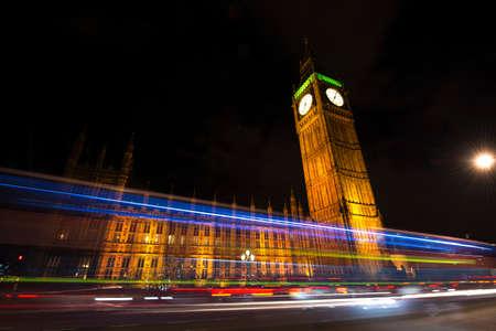 bigben: London by night. Stock Photo