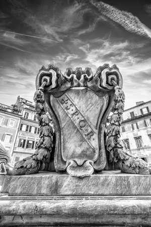 spqr: S.P.Q.R. - Rome. Stock Photo