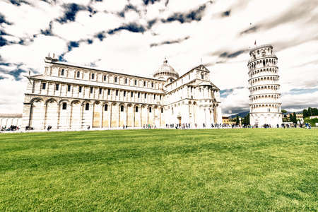 piazza dei miracoli: Piazza dei Miracoli in Pisa. Stock Photo