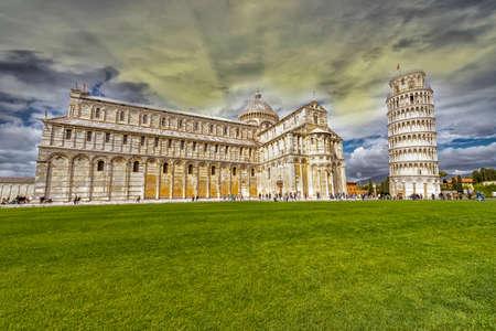dei: Piazza dei Miracoli in Pisa. Stock Photo