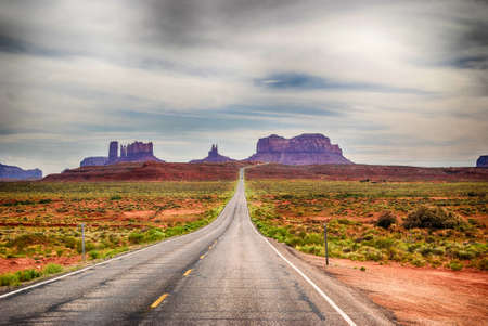 Entrance to Monument Valley Navajo Tribal Park , Arizona, USA. Stock Photo