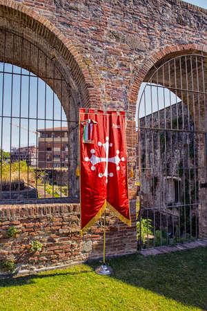 pisa: Pisa flag. Stock Photo