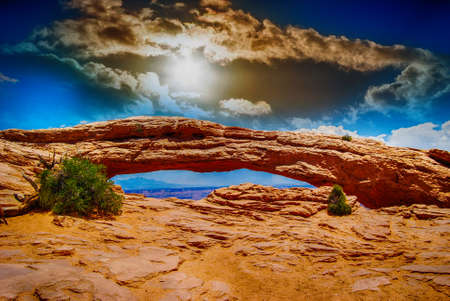 Beautiful arch in National Park. Stock Photo