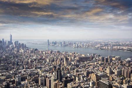 manhattans: Aerial view of Manhattans skyline.
