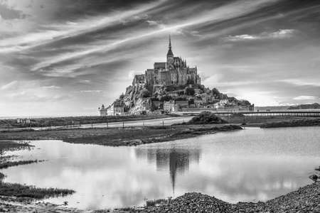 mont: Mont Saint Michel. Stock Photo
