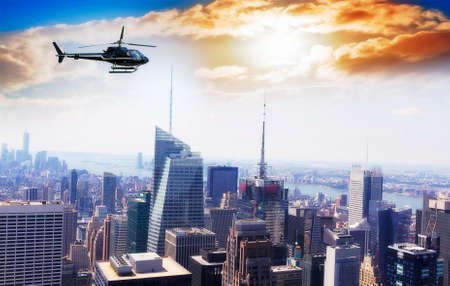 Helicopter for sightseeing over Manhattan.