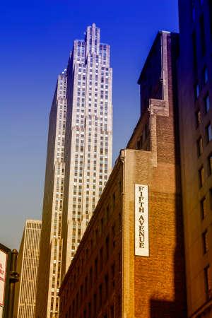 fifth avenue: Skyscrapers in Fifth Avenue in NYC.