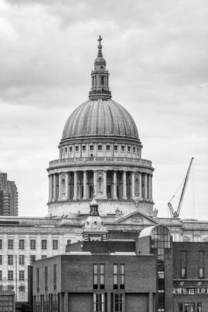 to the other side: St. Pauls Cathedral view from the other side of the Thames. Stock Photo