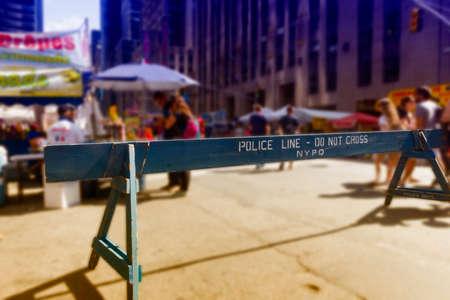 Police delimitation, in NYC.