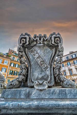 S.P.Q.R. - Rome. Stock Photo