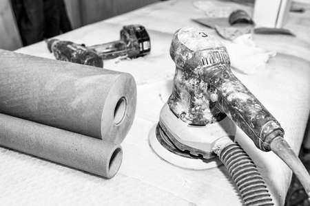 sander: Sander and other tools.