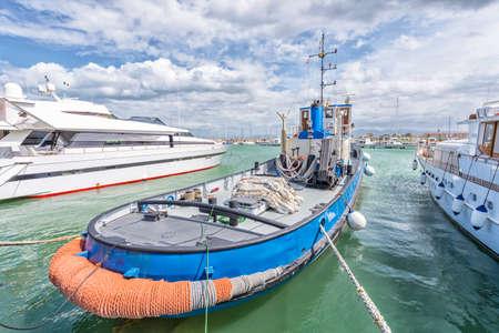 Tugboat: Tugboat inthe harbor. Stock Photo