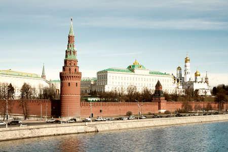 embankment: The Kremlin, Moscow.