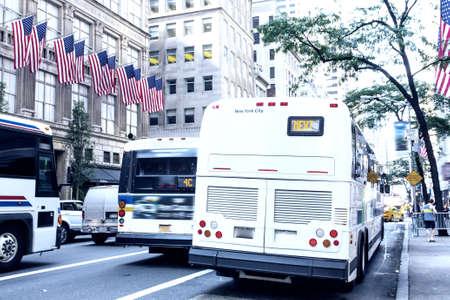 manhattans: Traffic on Manhattans street. Stock Photo