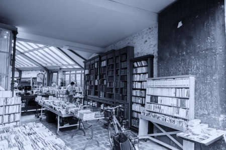 library old: Library old style in Paris. Stock Photo