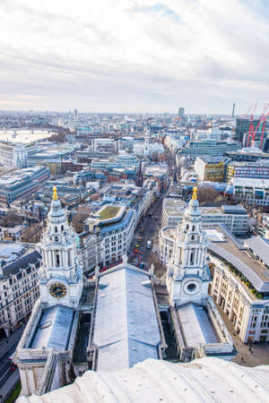 aereal: London aereal view from St. Pauls Cathedral.