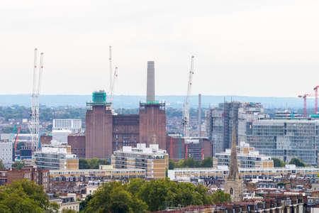 battersea: Battersea power station demolition.