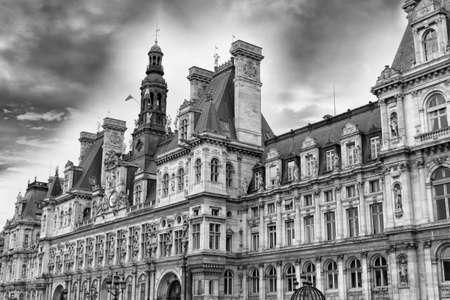 ville: Hotel de Ville in Paris. Stock Photo