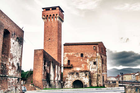Old castle in Pisa. Editorial