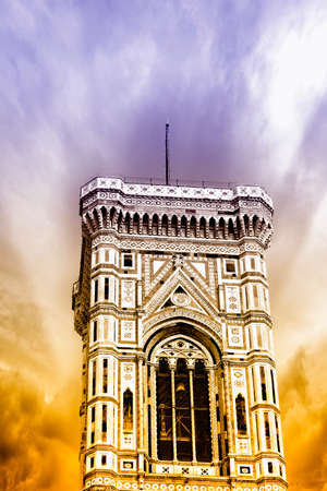 campanile: Beautiful view of the campanile in Florence.