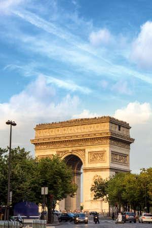 triomphe: Arc de Triomphe, Paris.