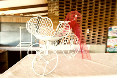 Tricycle shaped favor box.