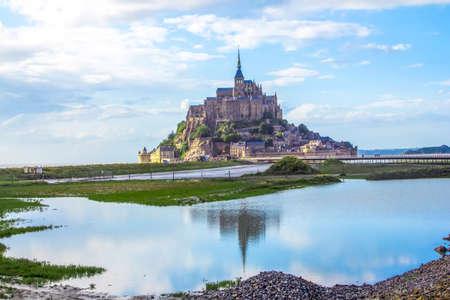 mont saint michel: Mont Saint Michel. Stock Photo