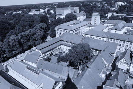Aerials view of Celle.