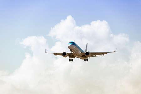 Airplane with beautiful sky.