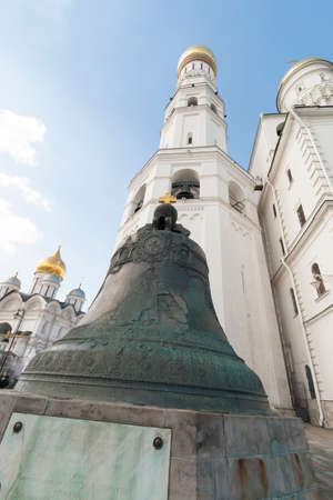 Russia, 06042012: the Tsar Bell inside Moscow Kremlin, the largest bell in the world, commissioned by Empress Anna Ivanovna (Peter the Greats niece), broken during metal casting and never been rung