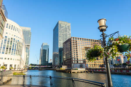 Beautiful view of canary Wharf.