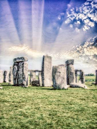 Beautiful view of Stonehenge. Stock Photo