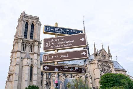 Sign and symbol in Paris.