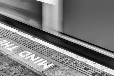 Caution, Mind The Gap, London.