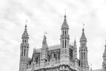 Details of the tower of Westminster.