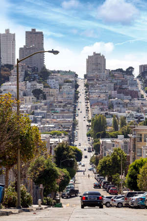 San Franciscos street. Stock Photo