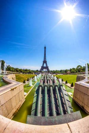 Eiffell tower from Trocadero.