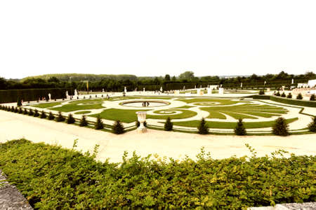 Beautiful view of Versaille gardens, France.