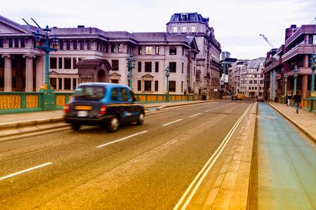 Taxi on the bridge.