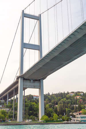 Details of Bosphorus Bridge in Istambul, Turkey.