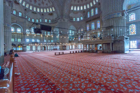 Interior of the Blue Mosque, Istambul. Stock Photo