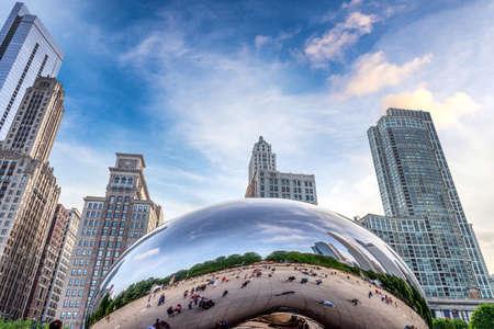 Sehenswürdigkeiten der Innenstadt von Chicago.