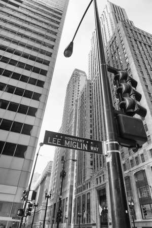 Street sign in Chicago. Editorial