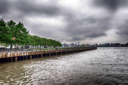 Pier a Park, Hoboken, New York. Stock fotó