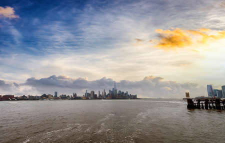Beautiful view from Hoboken, Manhattan skyline.