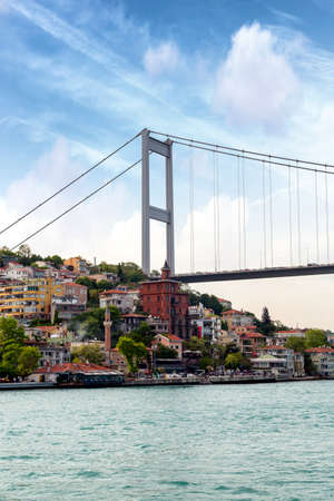 Particular view of Bosphorus Bridge, Istambul.