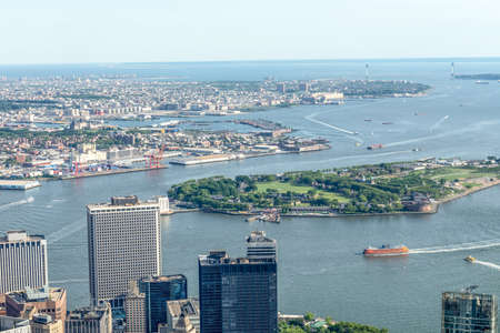 Manhattan Upper Bay, aerial view.