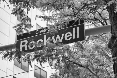 Rockwell Av., street sign in Cleveland.
