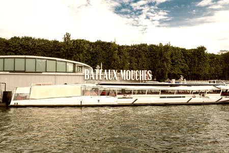 Bateaux Mouches, Paris. 스톡 콘텐츠