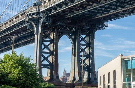The second most famous bridge in New York, Manhattan Bridge. Imagens